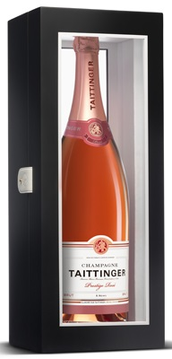 Taittinger Brut Prestige Rose NV Jeroboam (3 ltr) in Black Wood Box