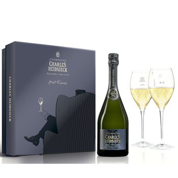 Charles Heidsieck Brut Reserve NV 75cl - Armchair Glass Pack