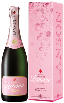 Lanson Rose Label NV 75cl in Lanson Box