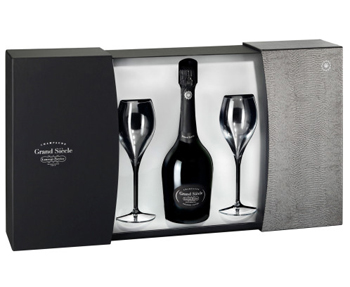 Laurent-Perrier Grand Siecle NV 75cl + Glasses Set