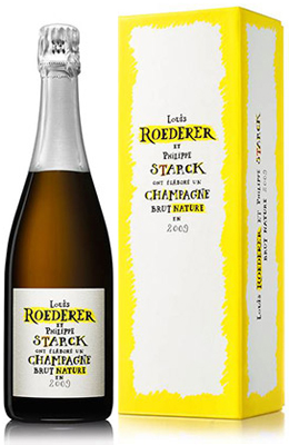 Louis Roederer Brut Nature 2009 75cl - by Philippe Starck