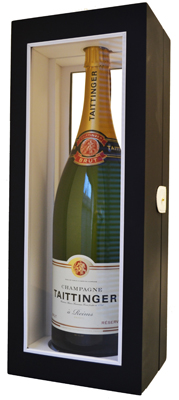 Taittinger Brut Reserve NV Jeroboam (3 ltr) in Black Wood Box