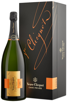 Veuve Clicquot Cave Privee 1989 Magnum (1.5 ltr) in Wood Box
