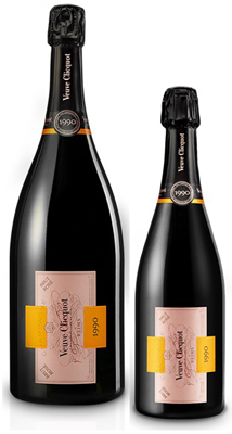 Veuve Clicquot Cave Privee Rose 1990 Magnum (1.5 ltr) in Wood Box